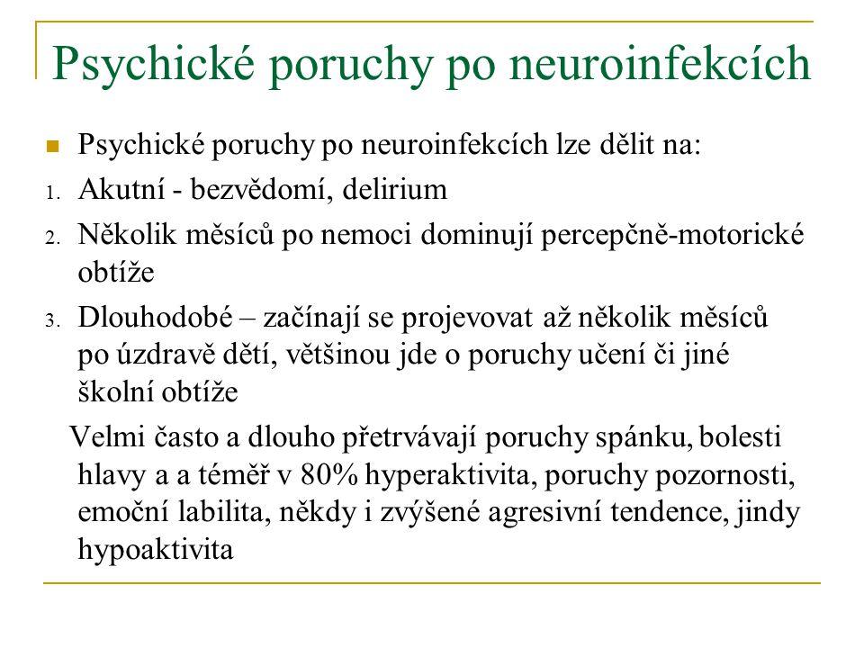 Psychické poruchy po neuroinfekcích