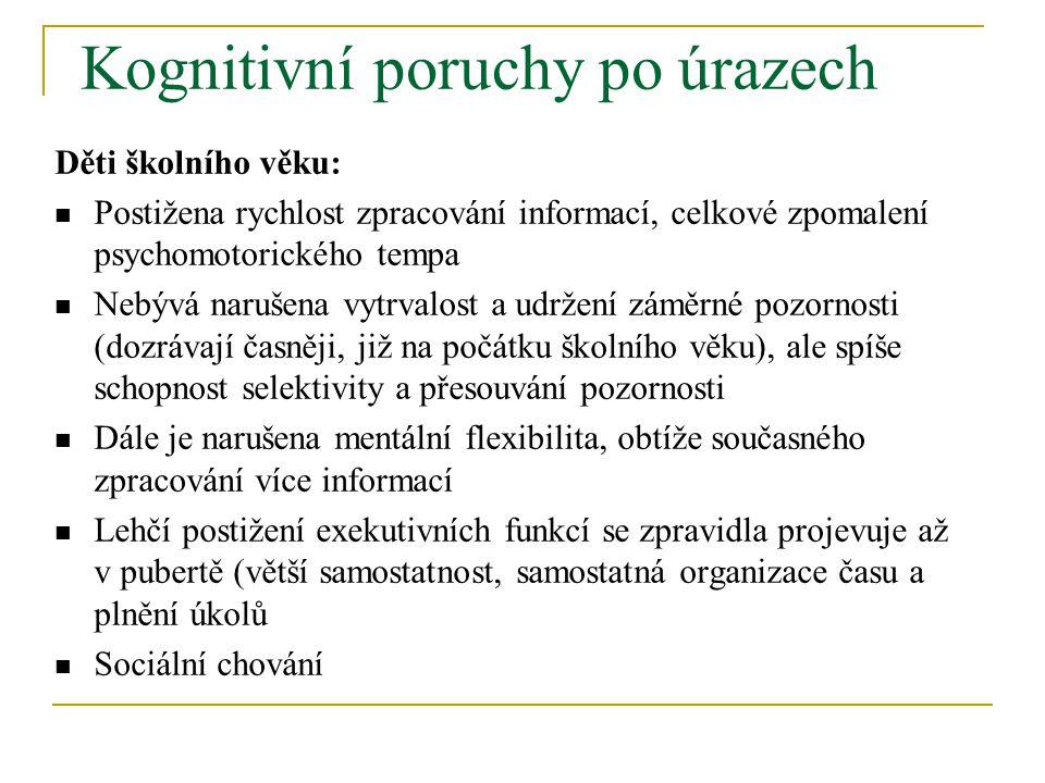 Kognitivní poruchy po úrazech