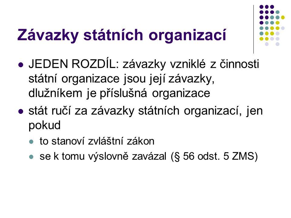 Závazky státních organizací