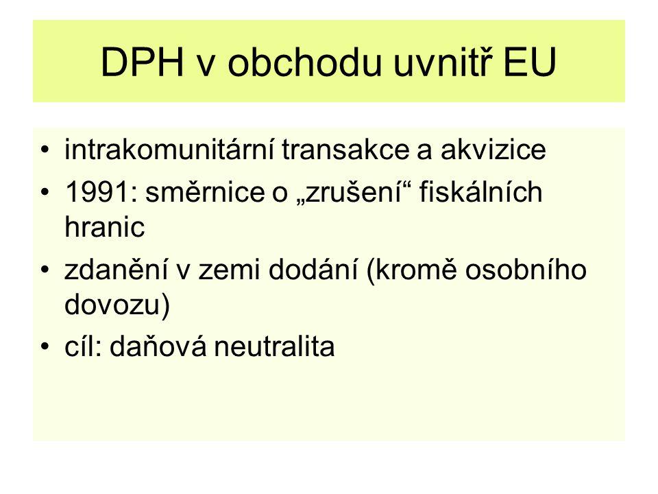DPH v obchodu uvnitř EU intrakomunitární transakce a akvizice