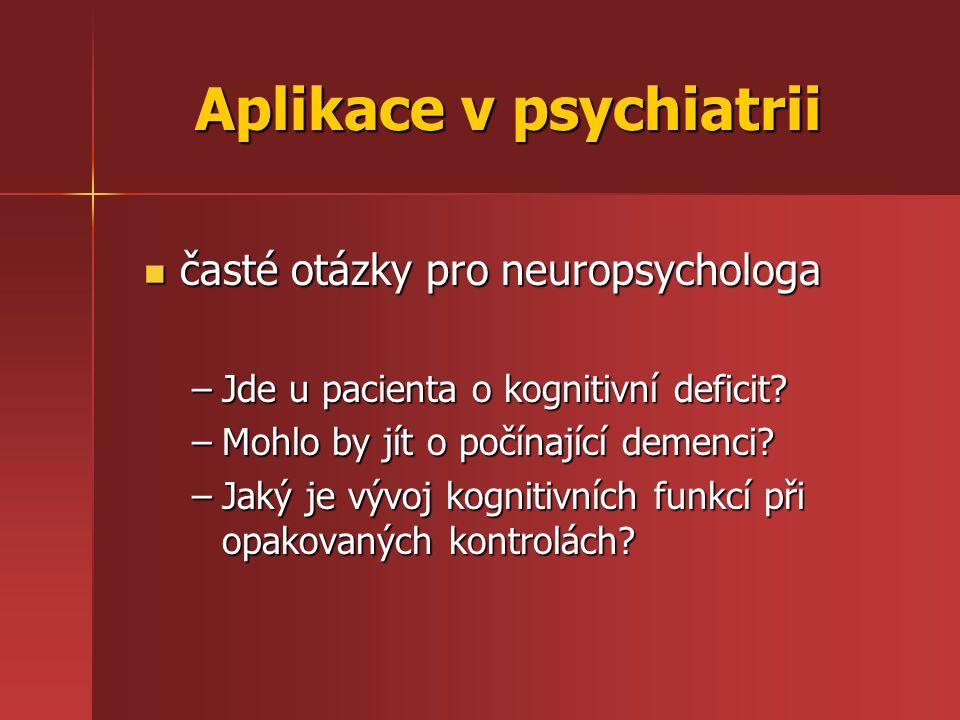 Aplikace v psychiatrii