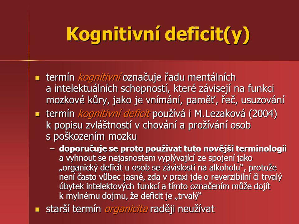 Kognitivní deficit(y)