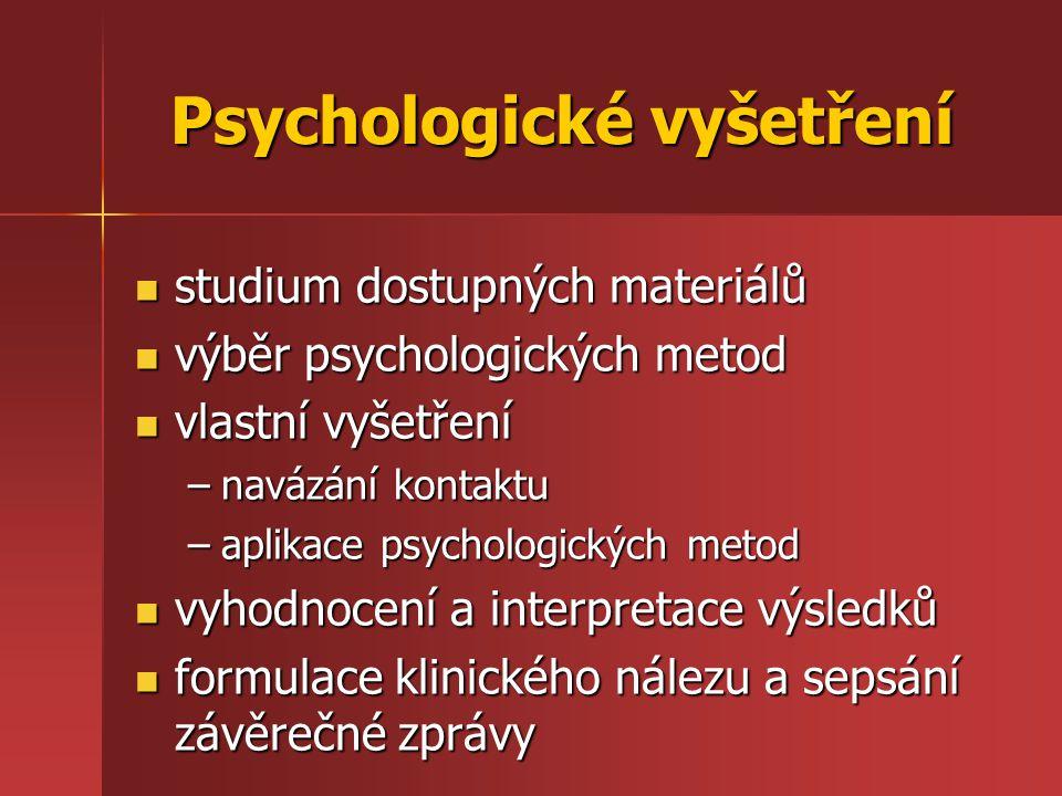 Psychologické vyšetření