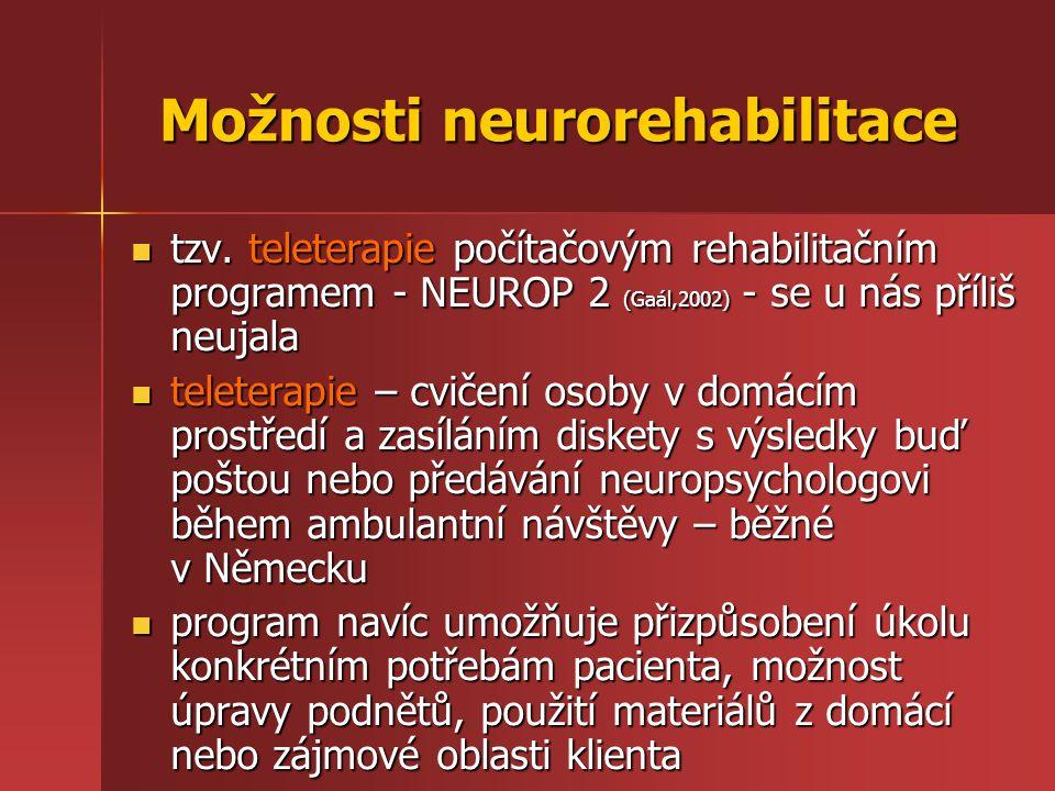 Možnosti neurorehabilitace