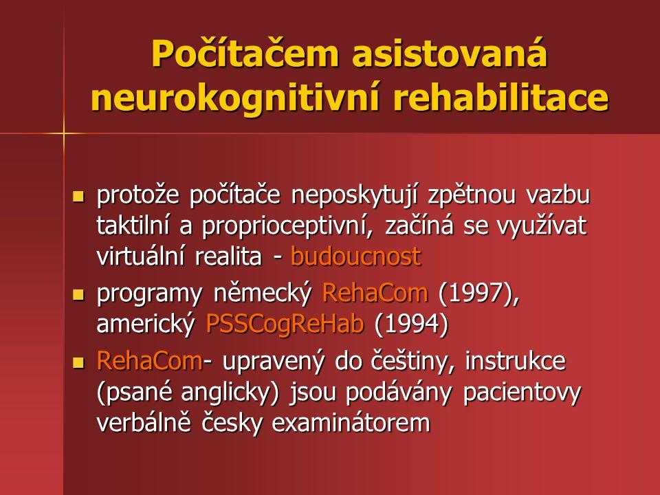 Počítačem asistovaná neurokognitivní rehabilitace