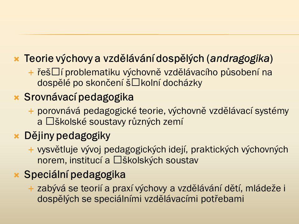 Teorie výchovy a vzdělávání dospělých (andragogika)