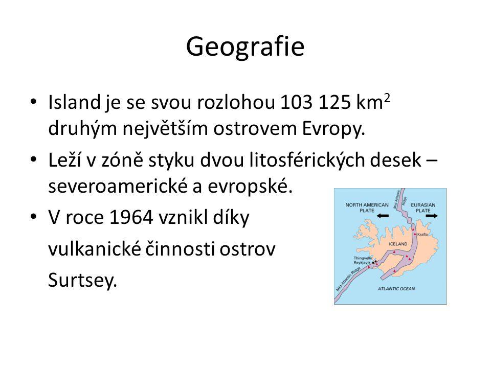 Geografie Island je se svou rozlohou 103 125 km2 druhým největším ostrovem Evropy.