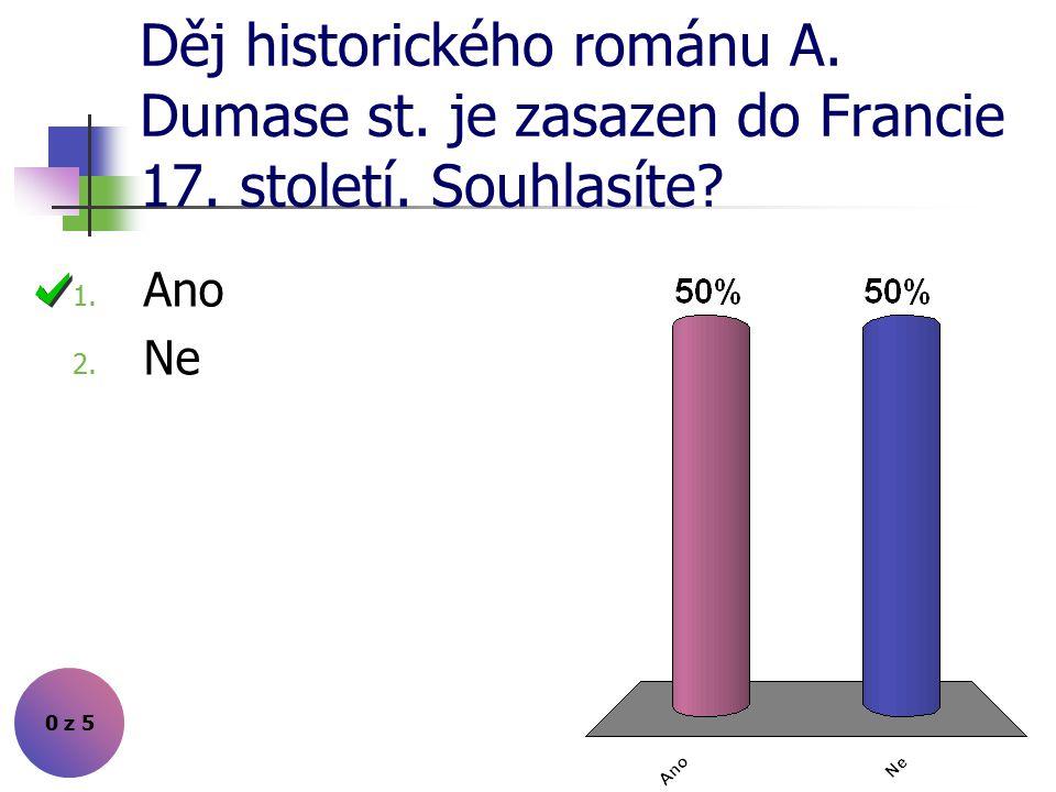 Děj historického románu A. Dumase st. je zasazen do Francie 17. století. Souhlasíte