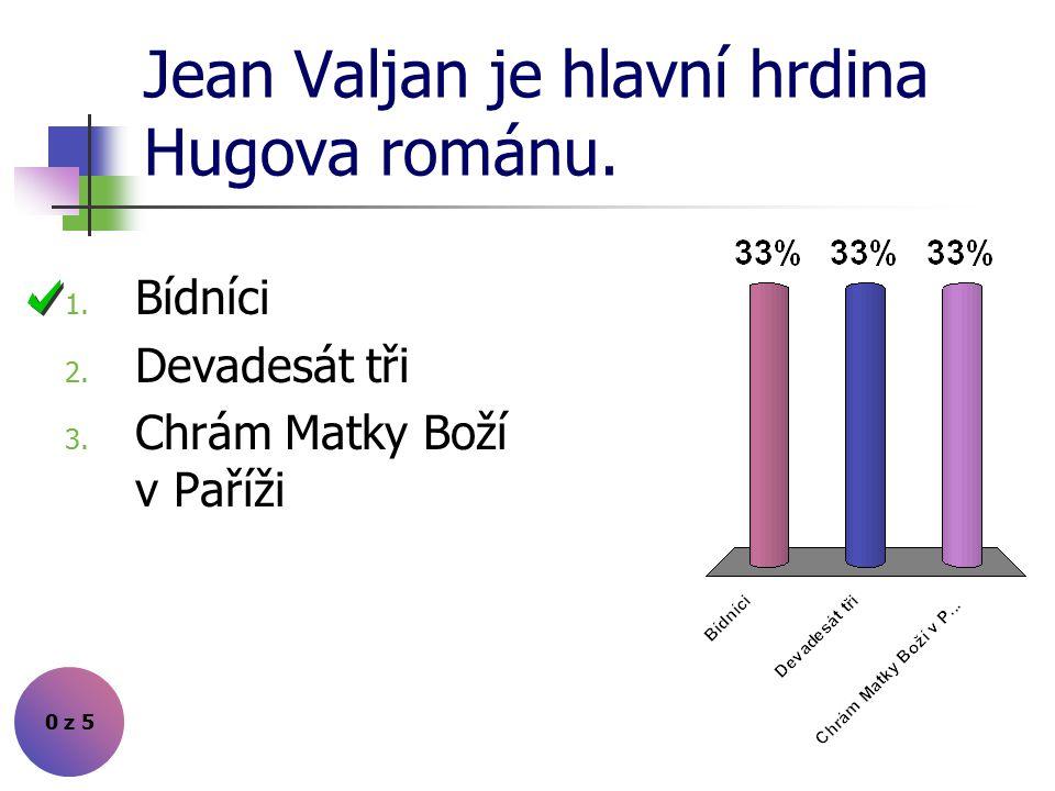 Jean Valjan je hlavní hrdina Hugova románu.