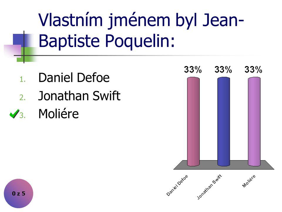 Vlastním jménem byl Jean-Baptiste Poquelin: