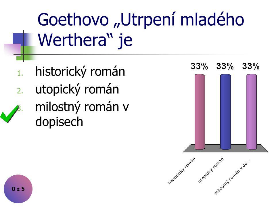 "Goethovo ""Utrpení mladého Werthera je"