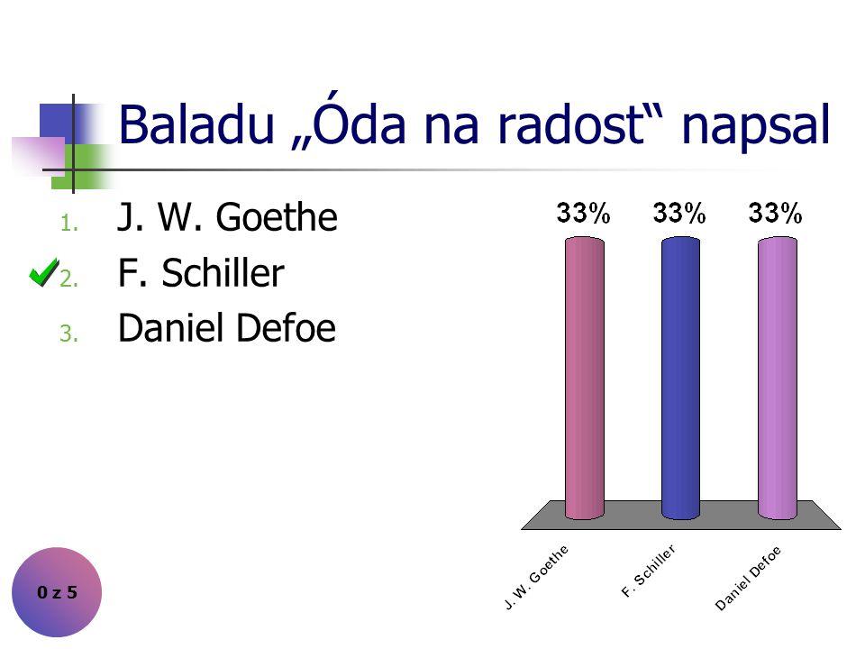 """Baladu """"Óda na radost napsal"""