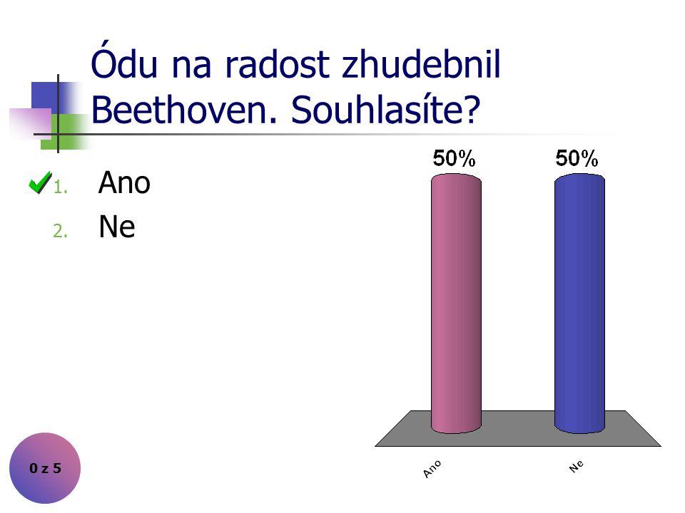 Ódu na radost zhudebnil Beethoven. Souhlasíte