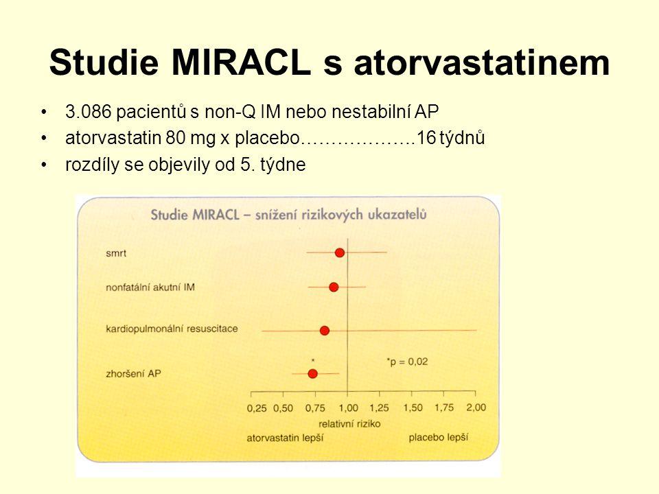 Studie MIRACL s atorvastatinem