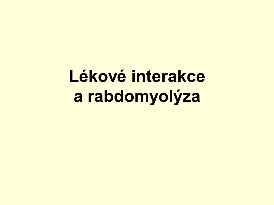 Lékové interakce a rabdomyolýza