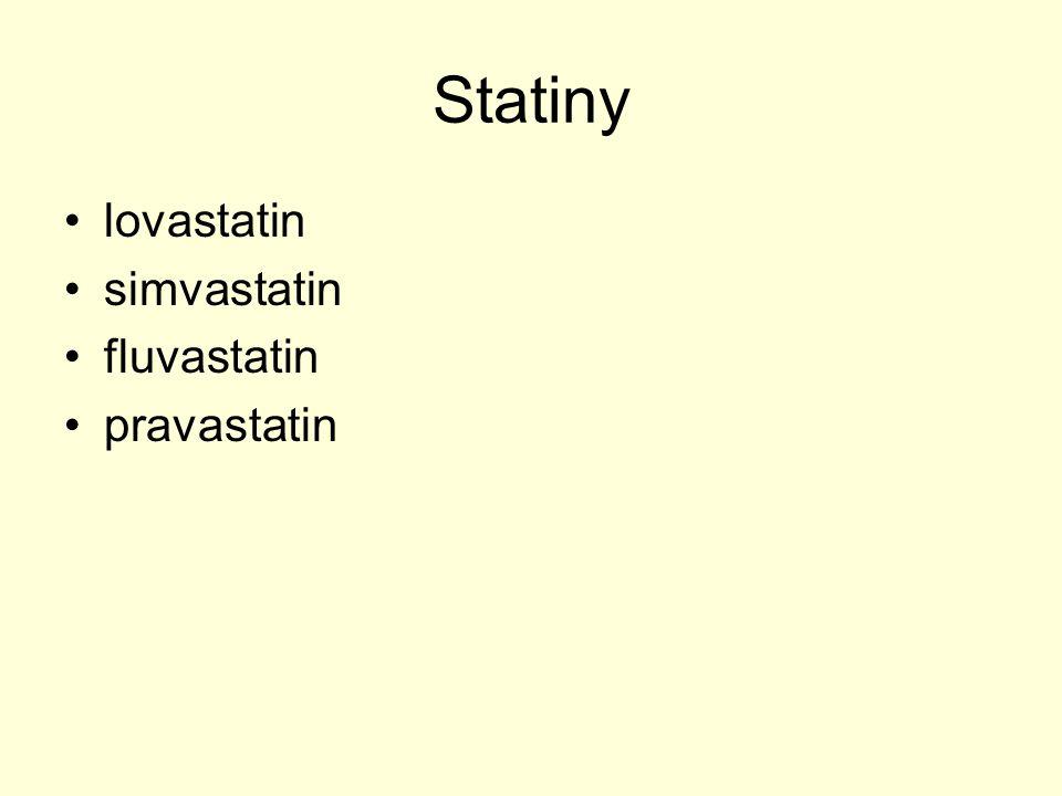 Statiny lovastatin simvastatin fluvastatin pravastatin