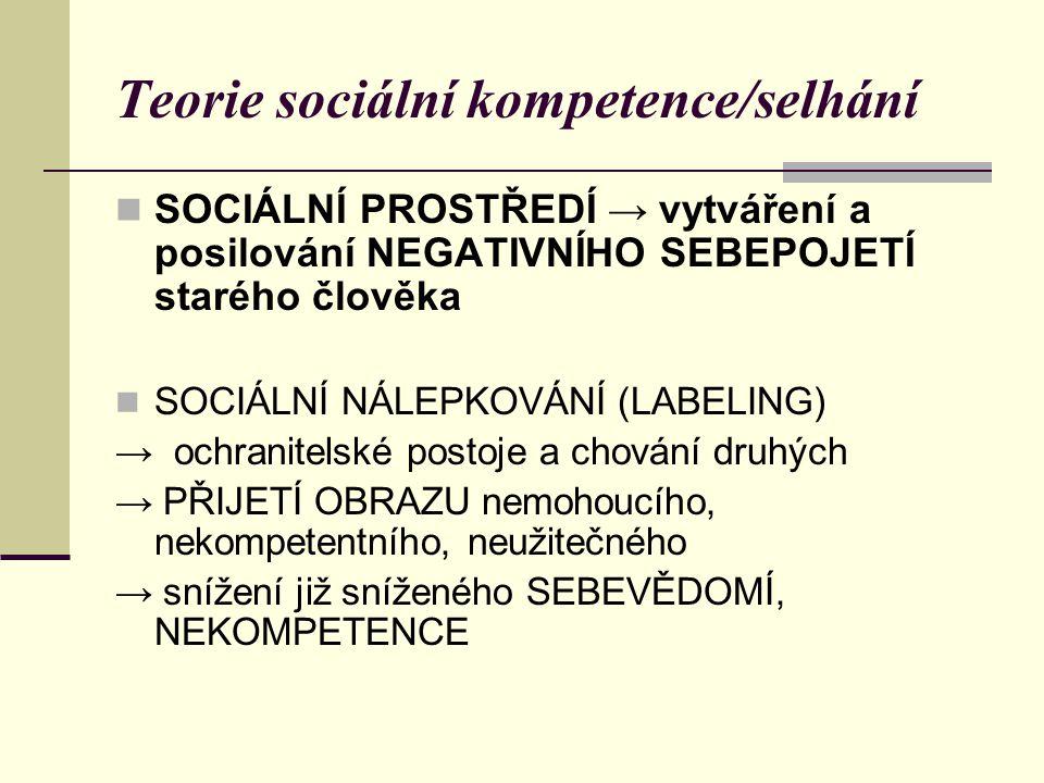 Teorie sociální kompetence/selhání