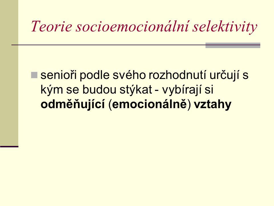 Teorie socioemocionální selektivity