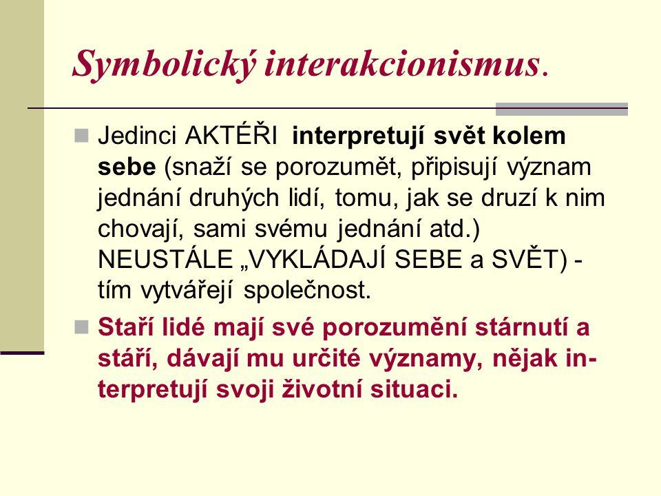 Symbolický interakcionismus.