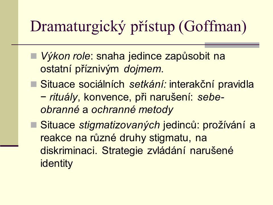 Dramaturgický přístup (Goffman)
