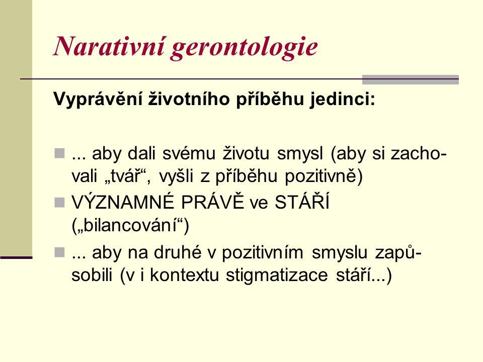 Narativní gerontologie