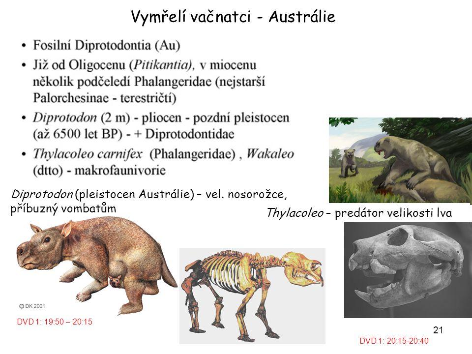 Vymřelí vačnatci - Austrálie