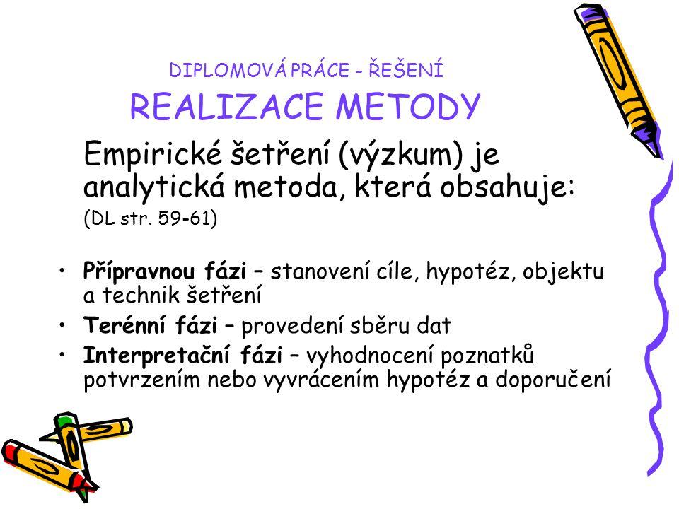 DIPLOMOVÁ PRÁCE - ŘEŠENÍ REALIZACE METODY