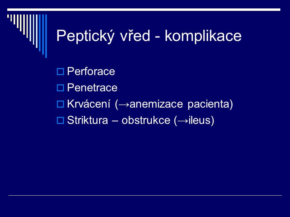 Peptický vřed - komplikace