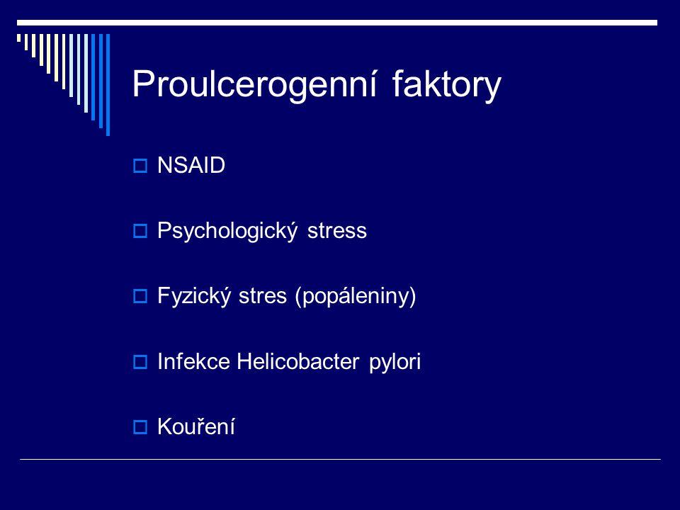 Proulcerogenní faktory