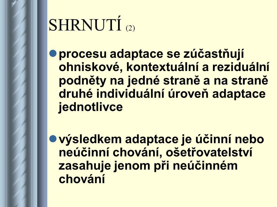 SHRNUTÍ (2)