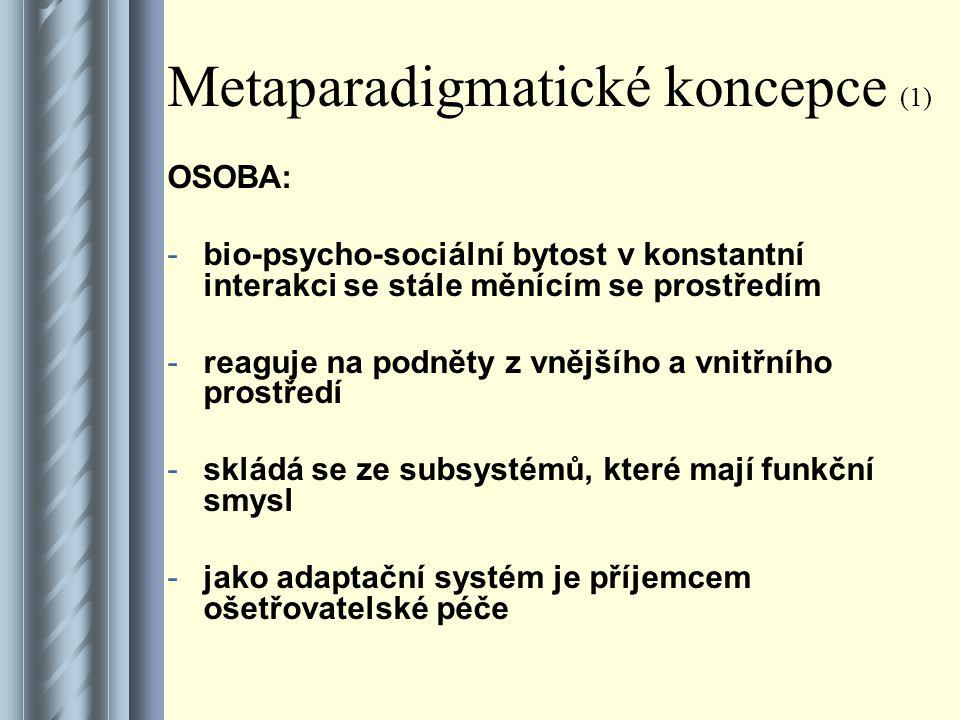 Metaparadigmatické koncepce (1)