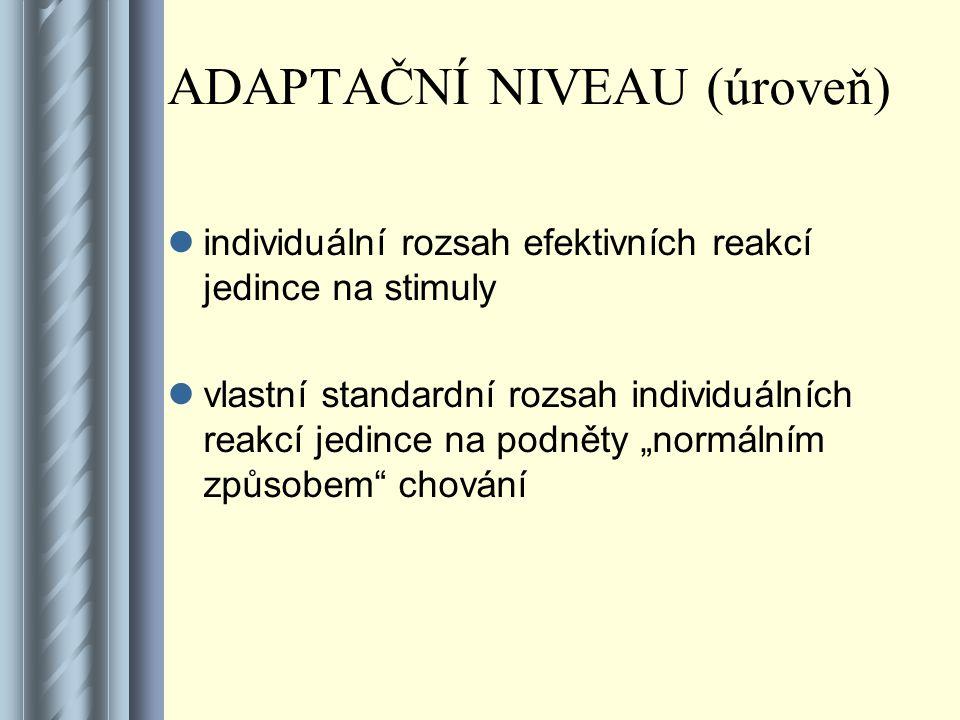 ADAPTAČNÍ NIVEAU (úroveň)