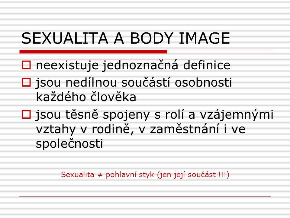SEXUALITA A BODY IMAGE neexistuje jednoznačná definice
