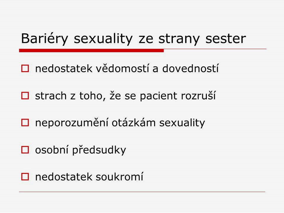 Bariéry sexuality ze strany sester