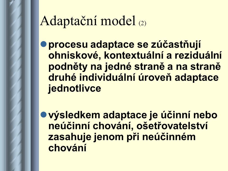 Adaptační model (2)