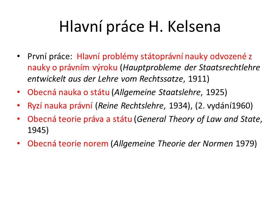 Hlavní práce H. Kelsena