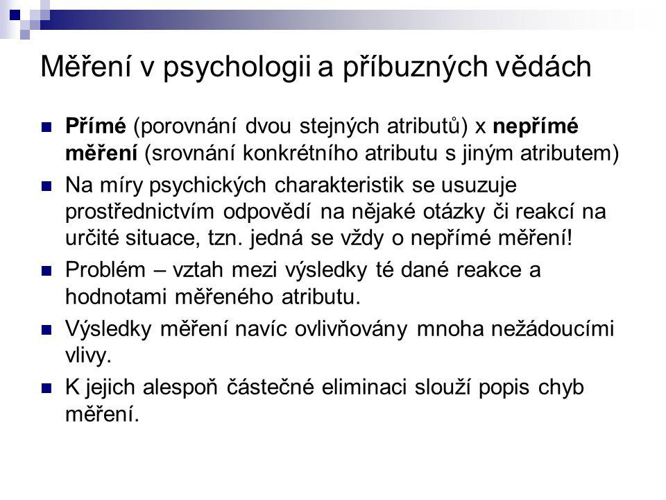 Měření v psychologii a příbuzných vědách