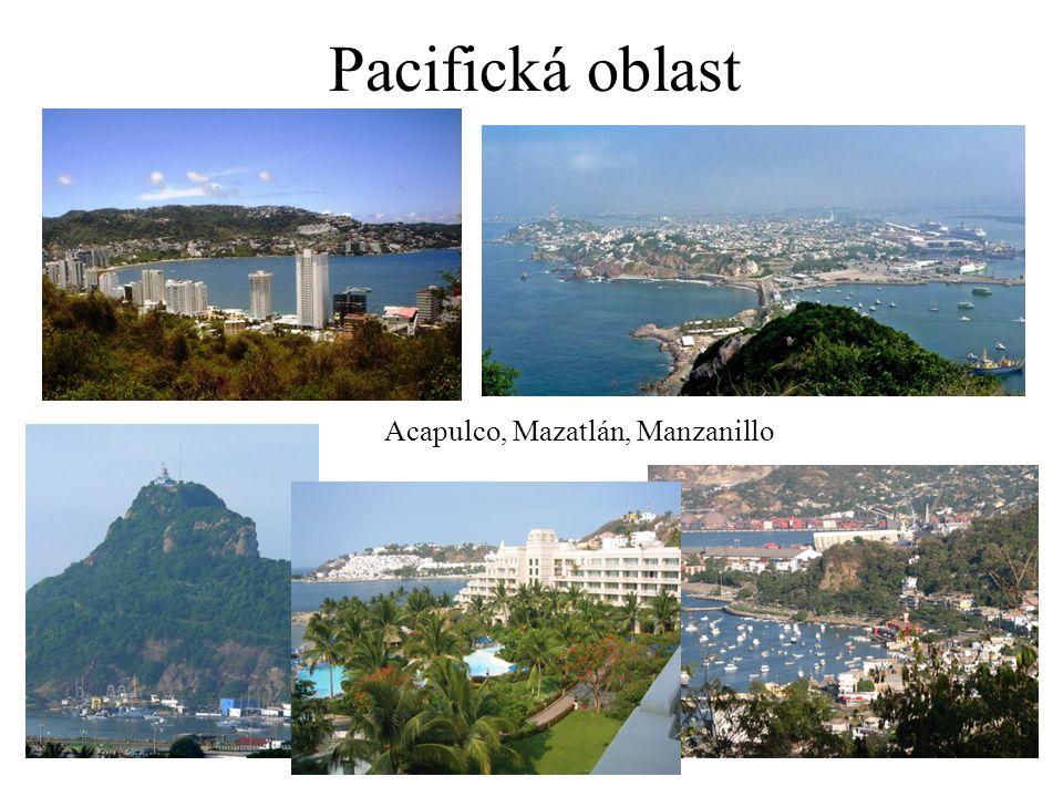 Pacifická oblast Acapulco, Mazatlán, Manzanillo