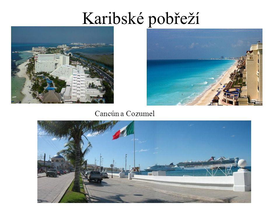 Karibské pobřeží Cancún a Cozumel