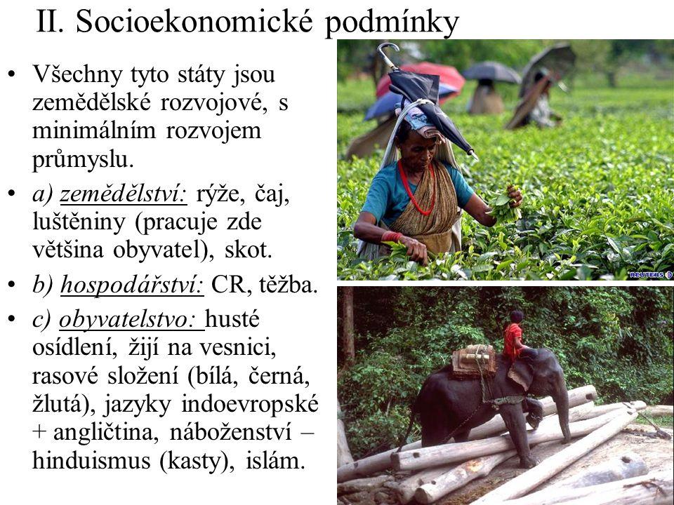 II. Socioekonomické podmínky