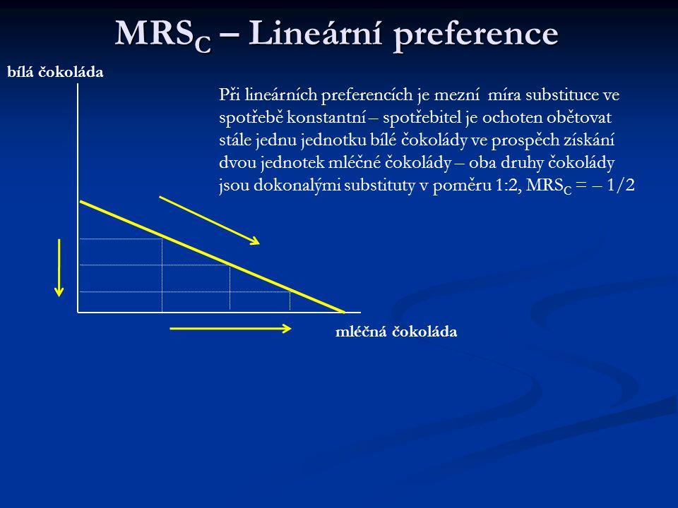 MRSC – Lineární preference