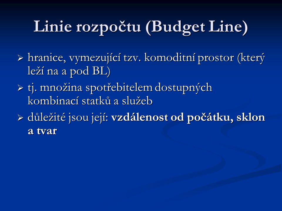 Linie rozpočtu (Budget Line)