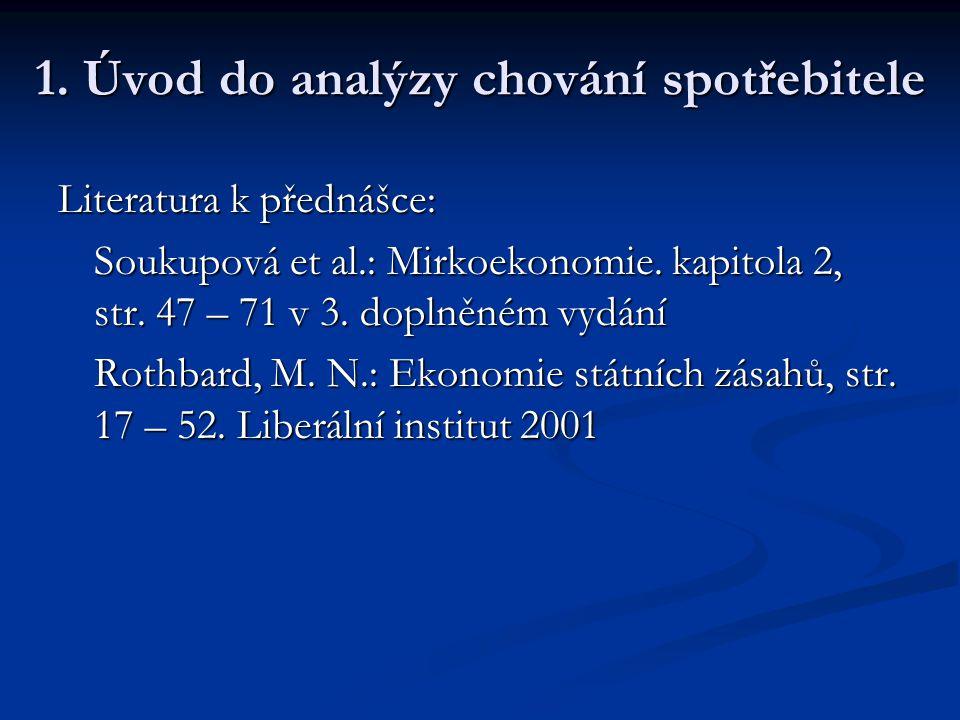 1. Úvod do analýzy chování spotřebitele