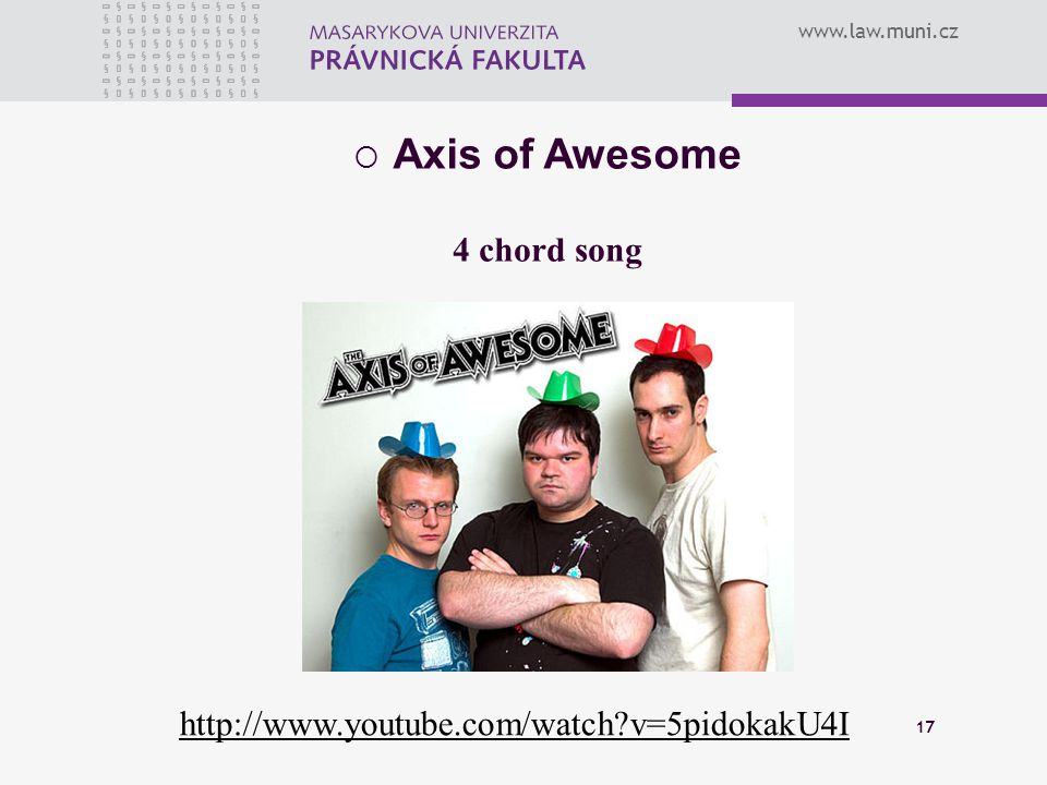 Axis of Awesome 4 chord song