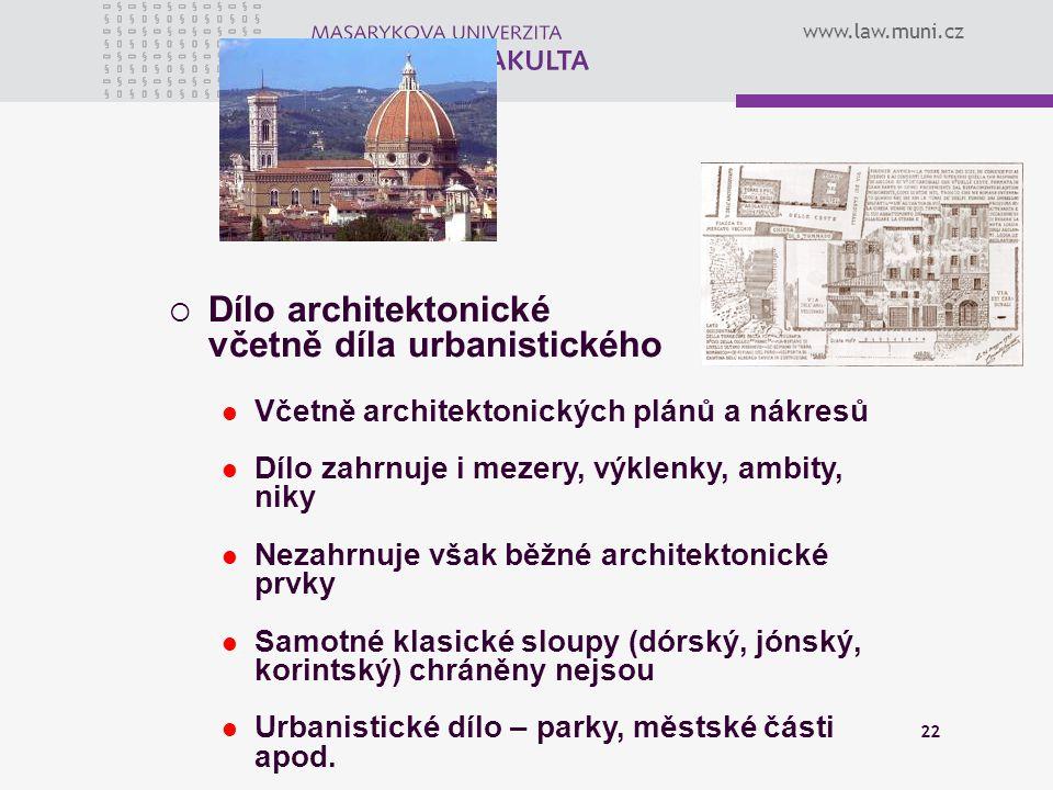 Dílo architektonické včetně díla urbanistického