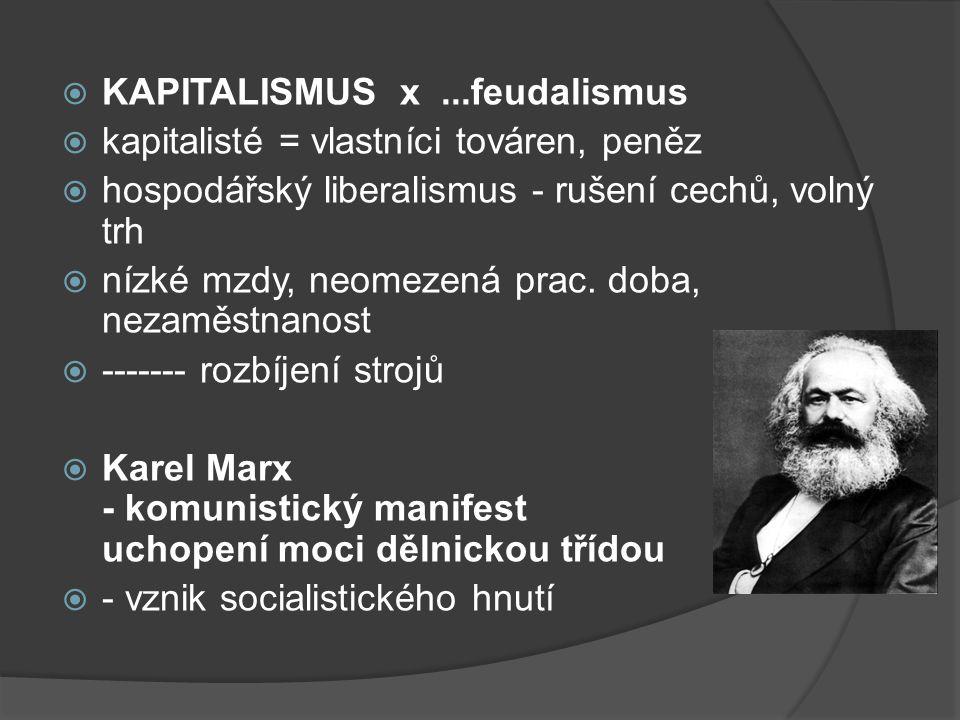 KAPITALISMUS x ...feudalismus