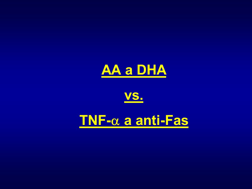 AA a DHA vs. TNF-a a anti-Fas