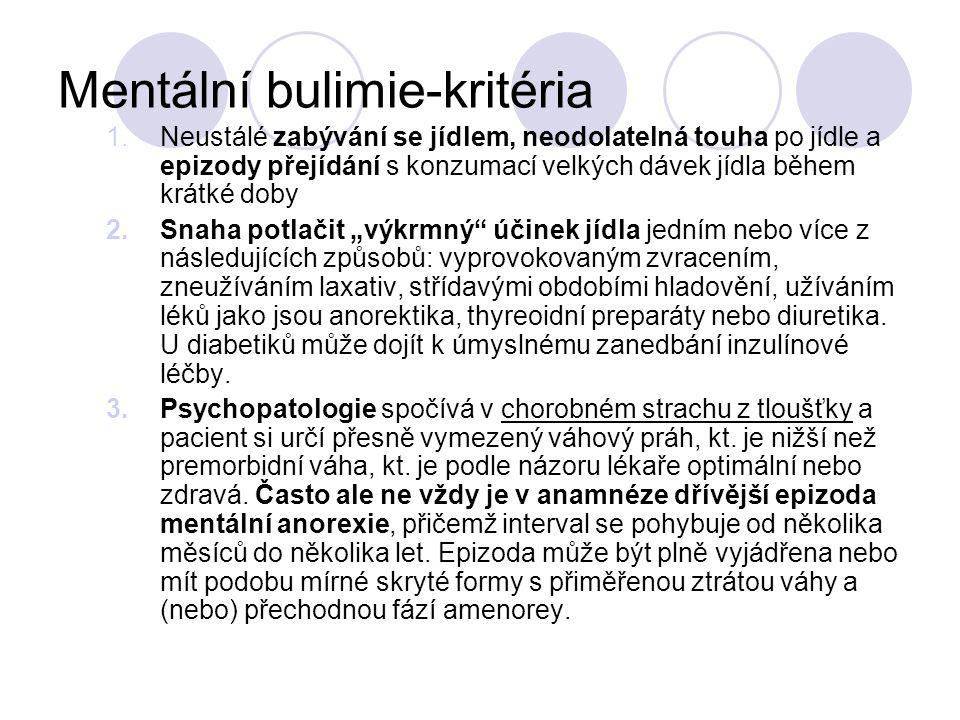 Mentální bulimie-kritéria