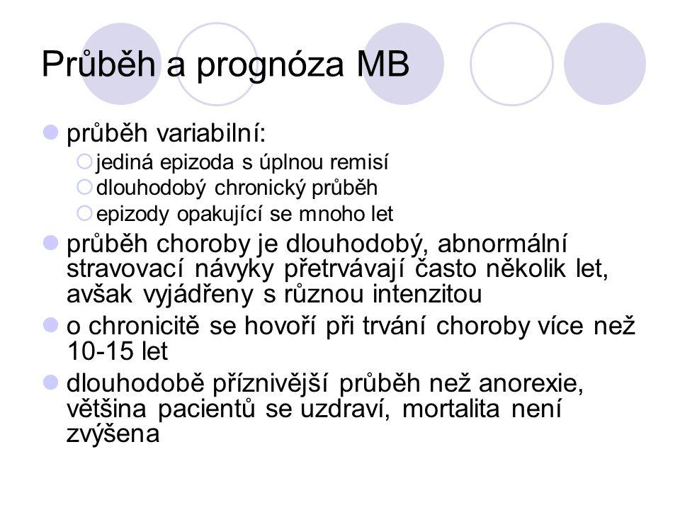 Průběh a prognóza MB průběh variabilní: