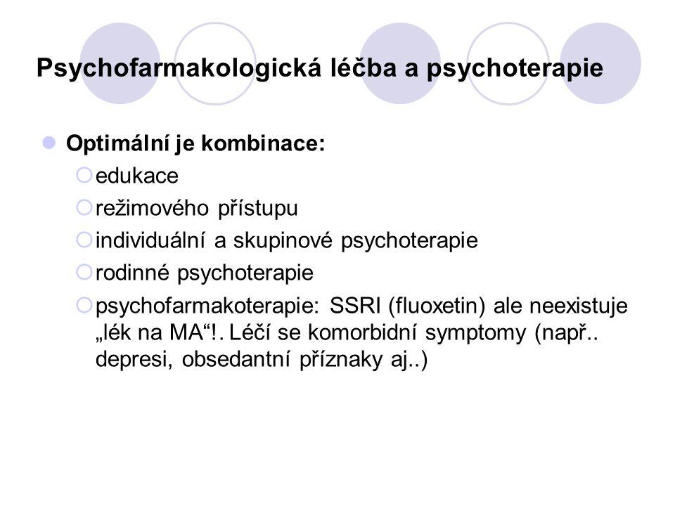 Psychofarmakologická léčba a psychoterapie